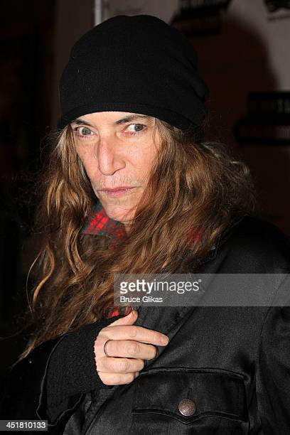 Patti Smith attends the opening night of 'Waiting For Godot' at the Cort Theatre on November 24 2013 in New York City
