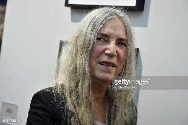 Patti Smith attends the Paris Photo 2017 Press Preview at Le Grand Palais on November 8 2017 in Paris France