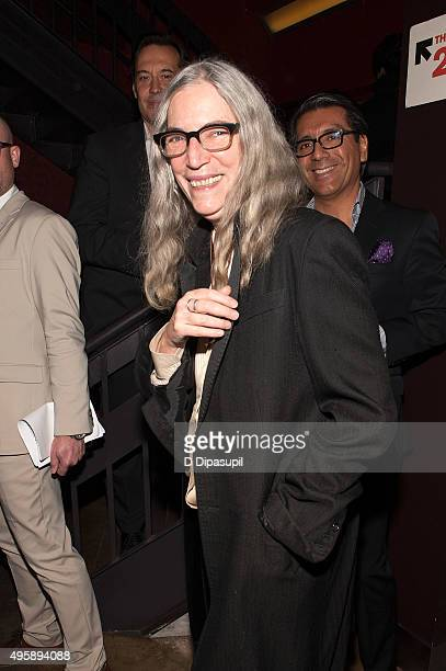 Patti Smith attends the 'Spectre' prerelease screening hosted by Champagne Bollinger and The Cinema Society at IFC Center on November 5 2015 in New...