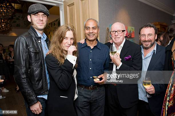 """Patti Smith, her son, George Alaghia, Richard Wilson and Anthony Sher attend """"Cries from the Heart"""" presented by Human Rights Watch at the Theatre..."""