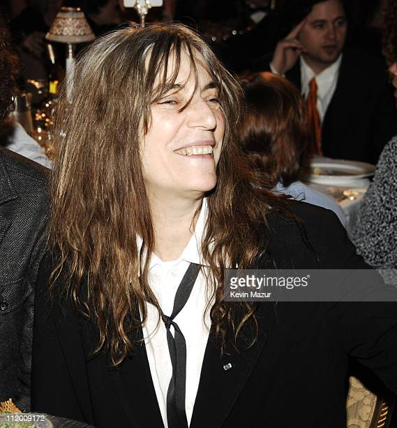 Patti Smith inductee during 22nd Annual Rock and Roll Hall of Fame Induction Ceremony Cocktails and Dinner at Waldorf Astoria in New York City New...