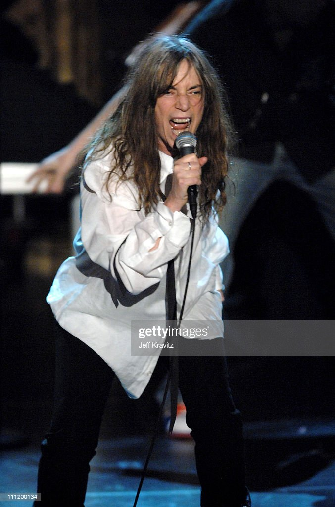 Patti Smith, inductee, performs 'Gimme Shelter/Because the Night/Rock 'n' Roll N#!&@'