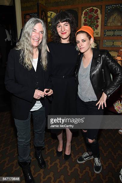 Patti Smith Jesse Smith and Kristen Stewart attend the after party for the Cafe Society premiere hosted by Amazon Lionsgate with The Cinema Society...