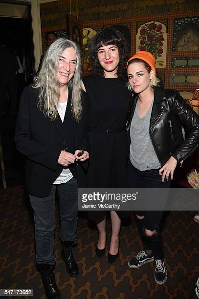 """Patti Smith, Jesse Smith and Kristen Stewart attend the after party for the """"Cafe Society"""" premiere hosted by Amazon & Lionsgate with The Cinema..."""