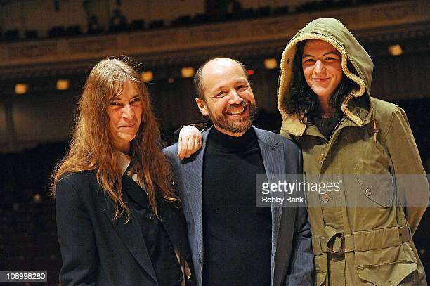 Patti Smith Michael Dorf producer of The Music of Neil Young and Jesse Smith Patti Smith's daughter at rehearsals for The Music of Neil Young at...