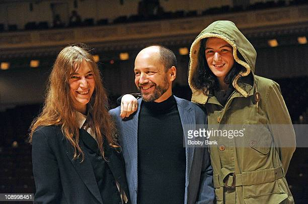 Patti Smith, Michael Dorf, producer of The Music of Neil Young, and Jesse Smith, Patti Smith's daughter at rehearsals for The Music of Neil Young at...