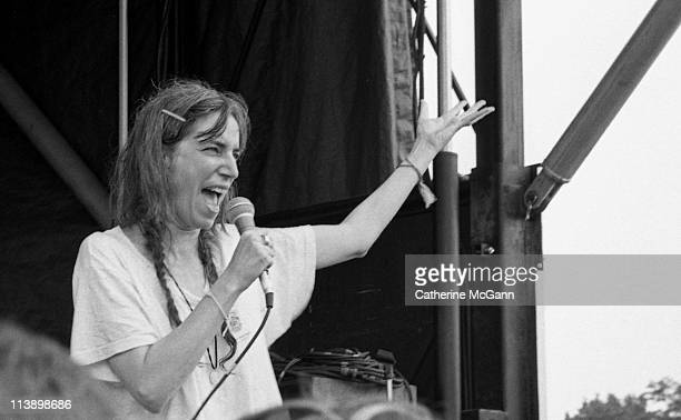 Patti Smith performing at Lollapalooza in August 1995 in New York City New York
