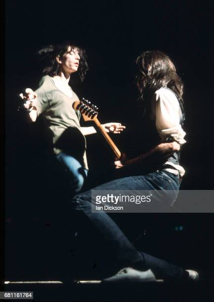Patti Smith performing on stage at Hammersmith Odeon London 23 October 1976