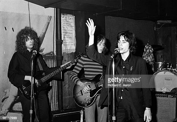 Patti Smith performing with Richard Sohl Ivan Kral from the Patti Smith Group at CBGB's club in New York City on April 04 1975