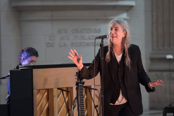 FRA: Patti Smith Performs During The 50th FIP Radio Anniversary At Le Pantheon In Paris