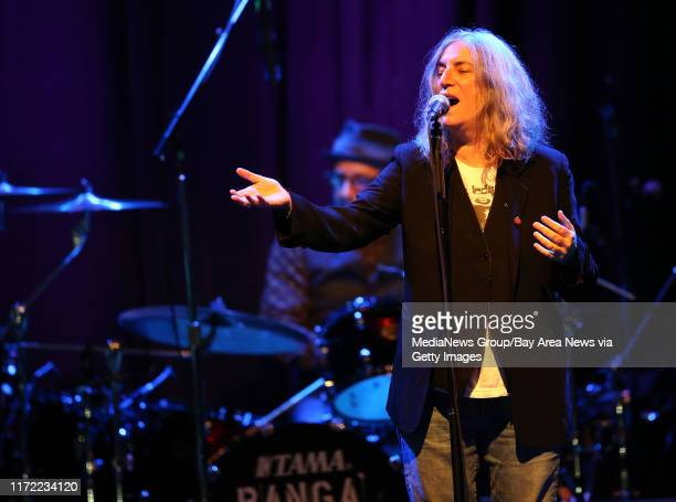 Patti Smith performs a soldout show with her band at The Fillmore in San Francisco Calif on Wednesday Jan 21 2015 Smith also an artist and author is...