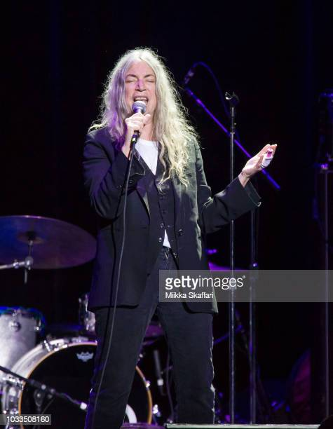 Patti Smith performs at Pathway To Paris event at The Masonic Auditorium on September 14, 2018 in San Francisco, California.