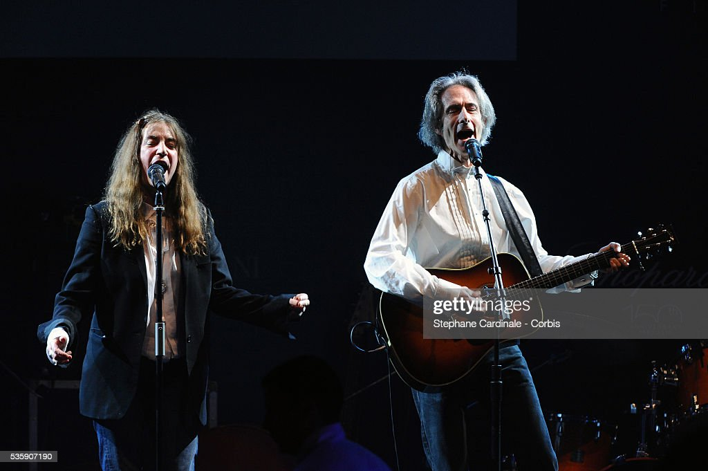 Patti Smith performs at the '2010 amfAR's Cinema Against AIDS Gala'