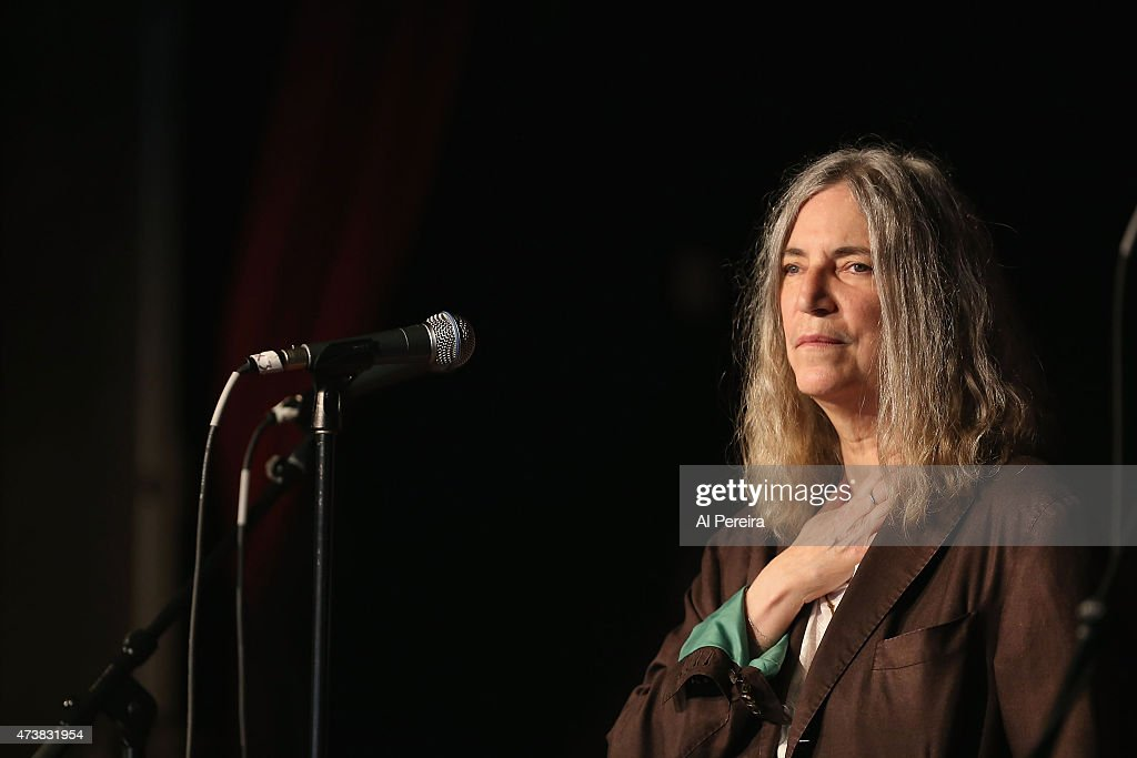Patti Smith performs at the Everest Awakening: A Prayer for Nepal and Beyond Benefit show at City Winery on May 17, 2015 in New York City.