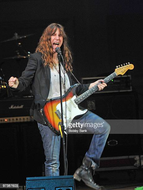 Patti Smith performs during The Music Of The Who at Carnegie Hall on March 2, 2010 in New York City.