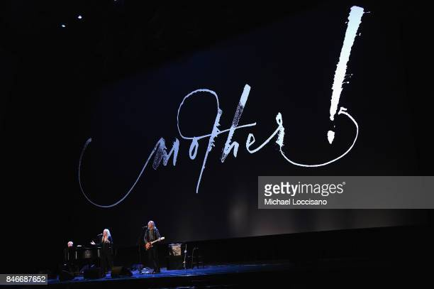 Patti Smith performs during the New York premiere of 'mother' at Radio City Music Hall onSeptember 13 2017 in New York New York