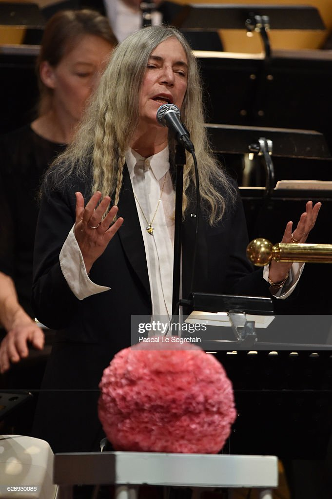 Patti Smith performs during the Nobel Prize Awards Ceremony at Concert Hall on December 10, 2016 in Stockholm, Sweden.