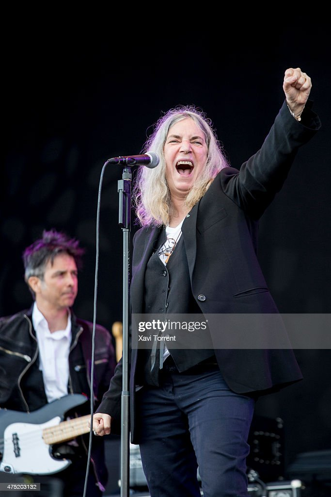 Patti Smith performs 'Horses' on stage during the third day of Primavera Sound 2015 on May 29, 2015 in Barcelona, Spain.