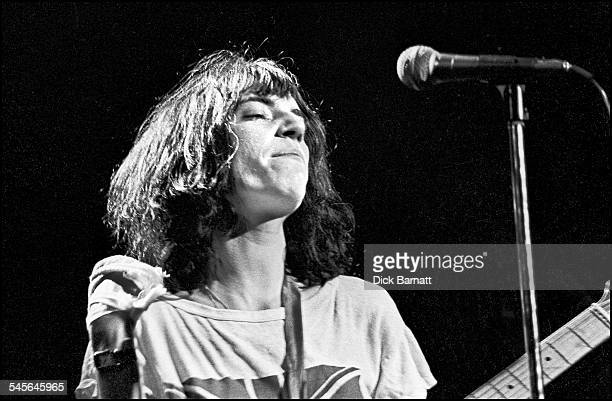 Patti Smith performs on stage at Hammersmith Odeon London United Kingdom 23rd October 1976