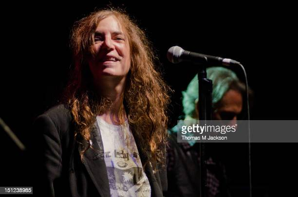 Patti Smith performs on stage at O2 Academy on September 4, 2012 in Newcastle upon Tyne, England.
