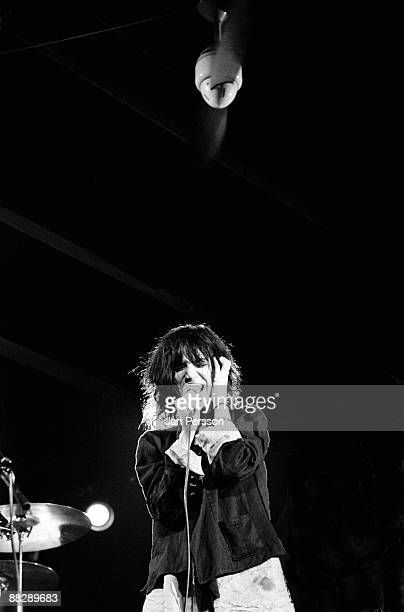 Patti Smith performs on stage in Copenhagen in 1976
