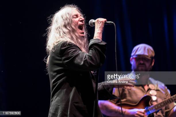 Patti Smith performs on stage in Noroeste Estrella Galicia festival on August 09 2019 in A Coruña Spain