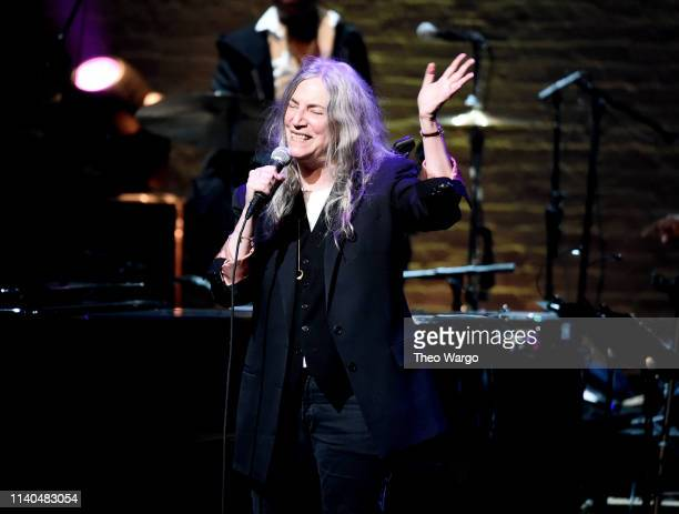 Patti Smith performs the 17th Annual A Great Night In Harlem at The Apollo Theater on April 04 2019 in New York City