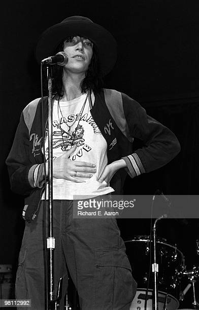 Patti Smith performs with The Patti smith Group live on stage in Central Park New York on July 09 1976