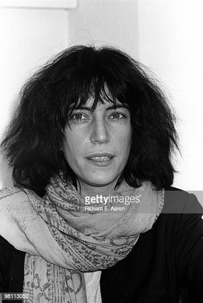 Patti Smith posed at a poetry reading night at a club called Local in New York City in 1975