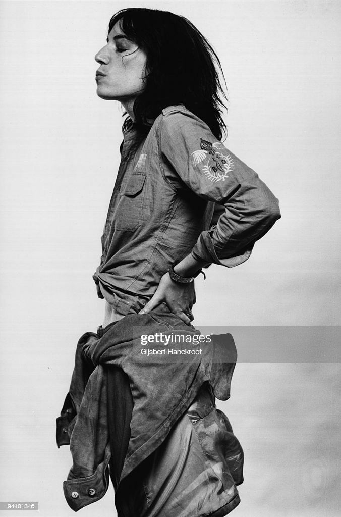 Patti Smith posed in Amsterdam, Netherlands on October 09 1976