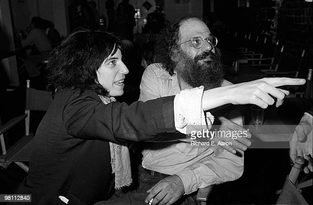 Patti Smith posed with Allen Ginsberg at a poetry reading night at a club called Local in New York City in 1975