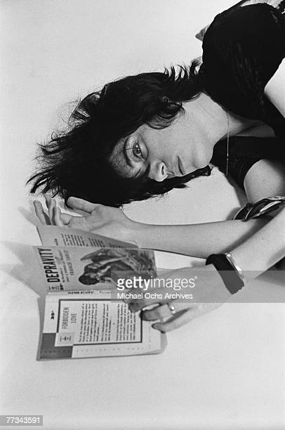 Patti Smith poses for a portrait in November 1974 in Los Angeles California