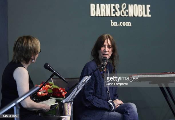 "Patti Smith promotes ""Banga"" at Barnes & Noble Union Square on June 7, 2012 in New York City."