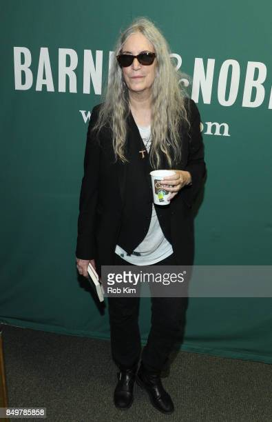 Patti Smith promotes her new book Devotion at Barnes Noble Union Square on September 19 2017 in New York City