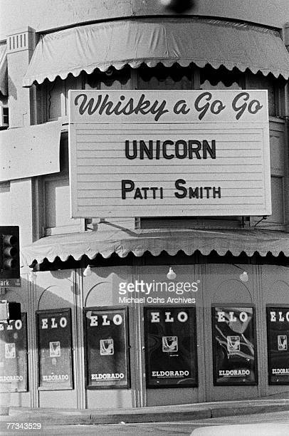 Patti Smith supports British country rock band Unicorn in November 1974 at the Whisky in Los Angeles California