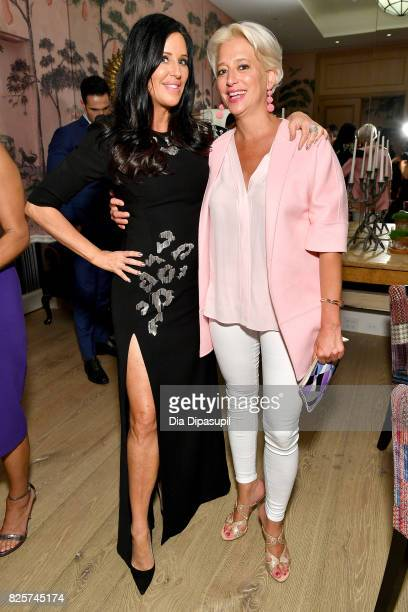 Patti Stanger and Dorinda Medley attend WE tv's Exclusive Premiere of Million Dollar Matchmaker Season 2 at the Whitby Hotel on August 2 2017 in New...