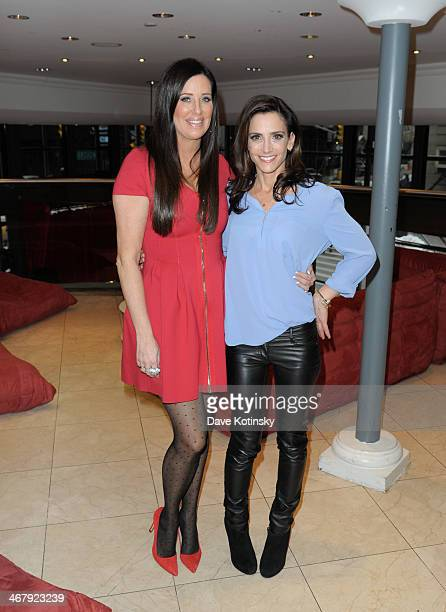 Patti Stanger and Emily Morse attend the Matchcom Dating Confessions panel hosted by Patti Stanger on February 8 2014 in New York City