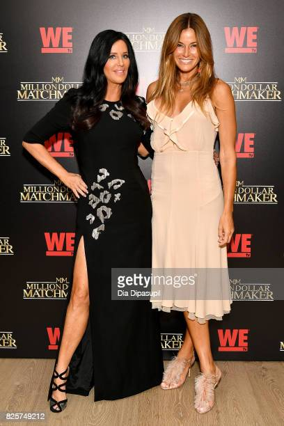 Patti Stanger and Kelly Bensimon attend WE tv's Exclusive Premiere of Million Dollar Matchmaker Season 2 at the Whitby Hotel on August 2 2017 in New...