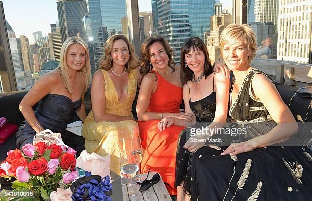 Patti Van Benschoten Diana Long Rhonda Vetere Kelly Cole and Rachel Cyriacks attend Rhonda Vetere's Beauties and Gowns gathering at The Skylark on...