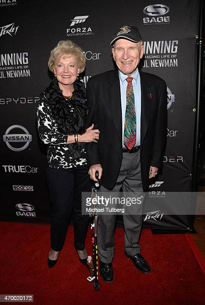 Pattie and Arthur Newman attend a charity screening of the film 'WINNING The Racing Life Of Paul Newman' at the El Capitan Theatre on April 16 2015...