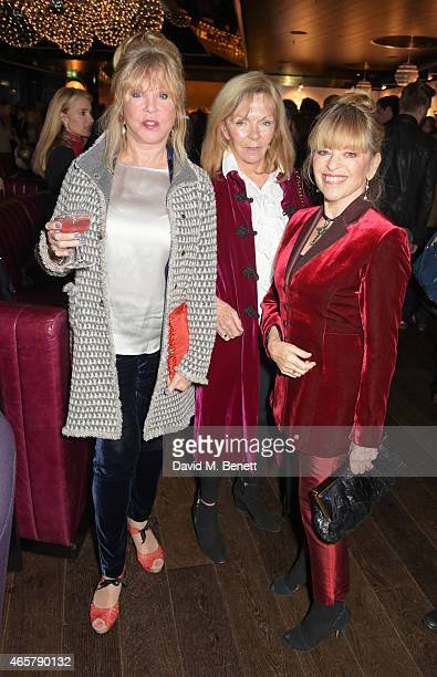 Pattie Boyd Adi Cook and Edina Ronay attend the Astley Clarke and Theirworld charitable partnership launch in the Rumpus Room at Mondrian London on...
