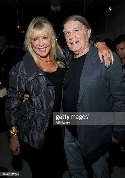 Pattie Boyd and Henry Diltz attend Julian Lennon's Timeless photography exhibition opening party at the Morrison Hotel Gallery on September 16 2010...