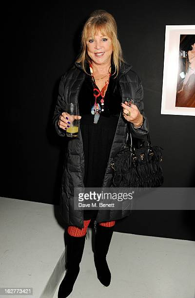 Pattie Boyd attends a private view of Bill Wyman's new exhibit 'Reworked' at Rook Raven Gallery on February 26 2013 in London England