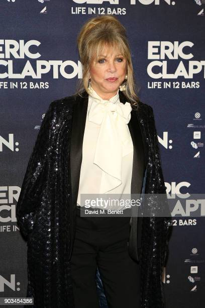 Pattie Boyd attends the UK Premiere of 'Eric Clapton Life In 12 Bars' at BFI Southbank on January 10 2018 in London England