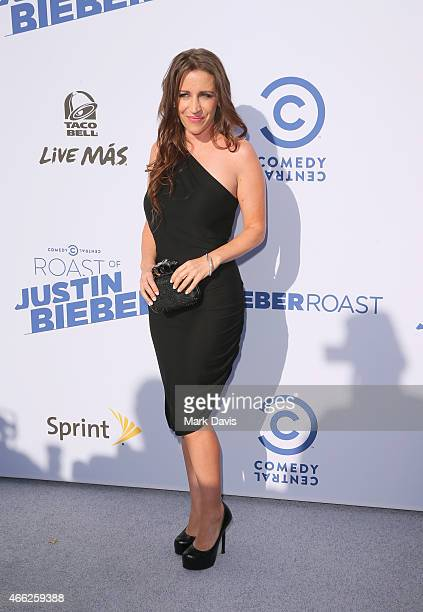 Pattie Mallette attends The Comedy Central Roast of Justin Bieber at Sony Pictures Studios on March 14 2015 in Los Angeles California