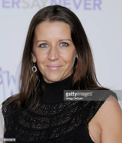Pattie Mallette Justin Bieber's mom arrives at the Los Angeles Premiere of 'Justin Bieber Never Say Never' at the Nokia Theater LA Live on February 8...