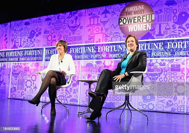Pattie Sellers and associate Justice of the U.S. Supreme Court Elena Kagan speak onstage at the FORTUNE Most Powerful Women Summit on October 16,...