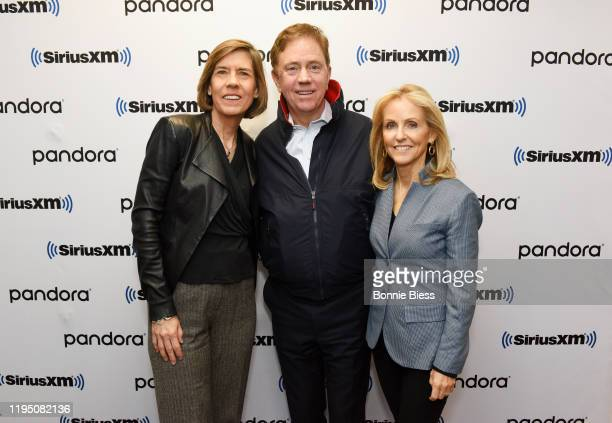 Pattie Sellers Governor of Connecticut Ned Lamont and Anne Lamont attend SiriusXM Business Radio's 'Making A Leader' Series with Governor Ned Lamont...