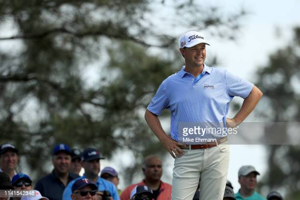 Patton Kizzire of the United States looks on during a practice round prior to the Masters at Augusta National Golf Club on April 09 2019 in Augusta...