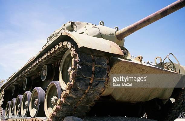 Patton M47 tank, low angle view